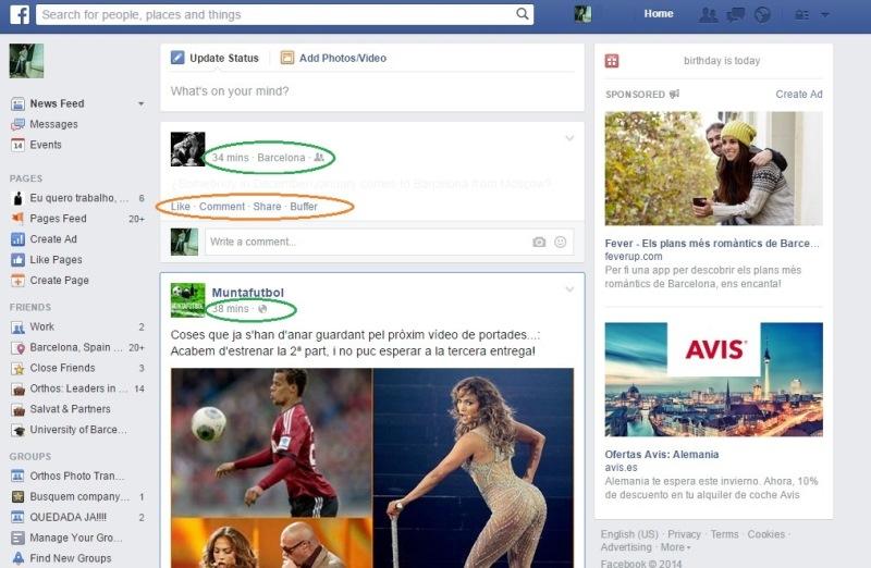 usuarios muy conectados a facebook