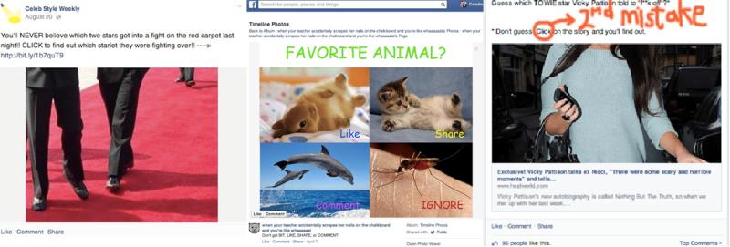 contenidos penalizados en facebook