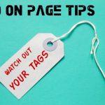 SEO On Page: limpieza de tags