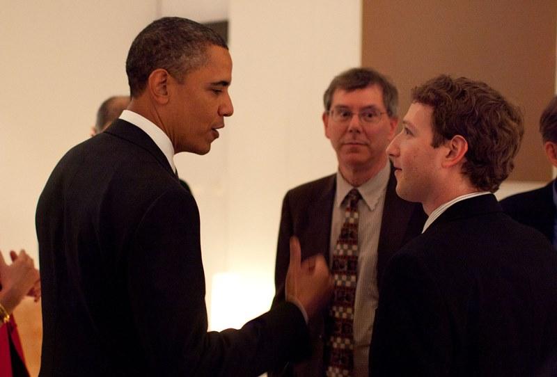 Zuckerberg con Obama