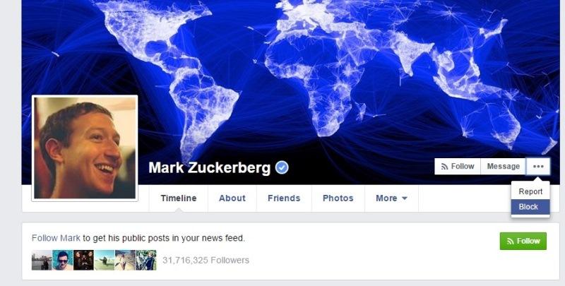 mark zuckerberg can be blocked