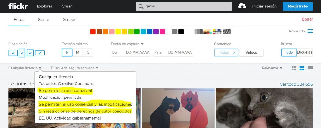 buscador de imagenes flickr