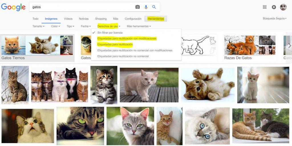 imágenes libres de derechos en google